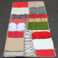 Large Play Mat for Sensory Activity, Special needs Fidget blanket