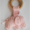 Organic wooden elephant teething ring