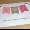 Girls Christening / Baptism / Naming Day Card - Pink Bunting