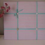 Mint Green & Pink Stripe Memo Noticeboard