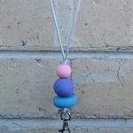 Lanyard, teachers lanyard, beaded lanyard, necklace lanyard, pastel,FREE postage
