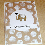 Neutral Baby Card - boy or girl - cute elephant
