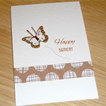 Female Happy Birthday card - butterfly
