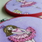 Ballerina pair - hoop art