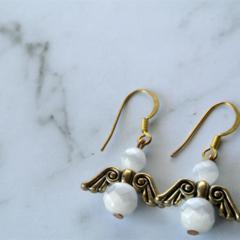 Angel Earrings  (white)