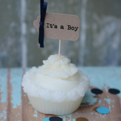 20 It's a boy or It's a Girl or a Mix Cupcake Toppers Baby Shower  Gender Reveal