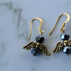 Angel Earrings  (black)