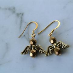 Angel Earrings  (gold)