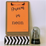Orange Dream in Neon A5 Print Wall Art