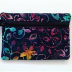 Blue/Purple Batik Purse