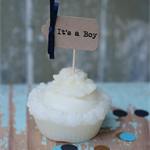 20 It's a boy or It's a Girl or a Mix Cupcake Toppers Baby Shower  Gender Reveal