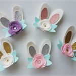 """""""Little Poppet"""" Easter Bunny HAIR CLIP in colour of your choice"""