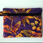 Purple Gold Batik Purse