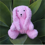 Long Ear Bunny in Soft Chenille Fabric