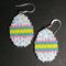 Easter Egg Beaded Earrings