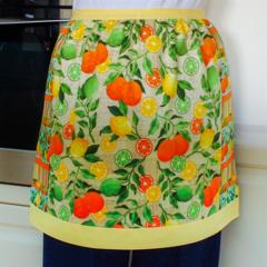 Half Apron Citrus Lemons Oranges Limes lined apron