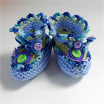 Unique 6 month baby booties.