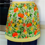Half Apron Citrus Lemons - womens lined apron - oranges & lemons & limes print