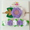 Violet  - Felt Flower Nylon Headband Set