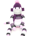 'Poppy' the Sock Monkey - purple, pink, black, white and grey - *READY TO POST*