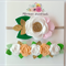White  - Felt Flower Nylon Headband Set