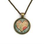 """""""Hearts 010""""   Choose silver or bronze   The $10 Pendant"""