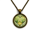 """""""Hearts 005""""   Choose silver or bronze   The $10 Pendant"""