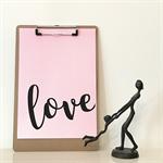 Pink Love A4 Print Wall Art Nursery