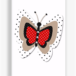Girls Canvas Print Butterfly Art, 20x30cm