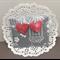 Crochet heart earrings