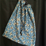 Blue Skulls Drawstring Bag
