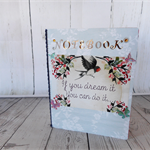Decorated lined notebook