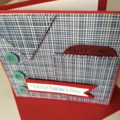 Father's Day cards. Shirt front Father's Day cards with gift card pocket.