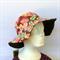 Retro Brown Floral Reversible Sun Hat - Girls / Ladies sizes, bucket, flower