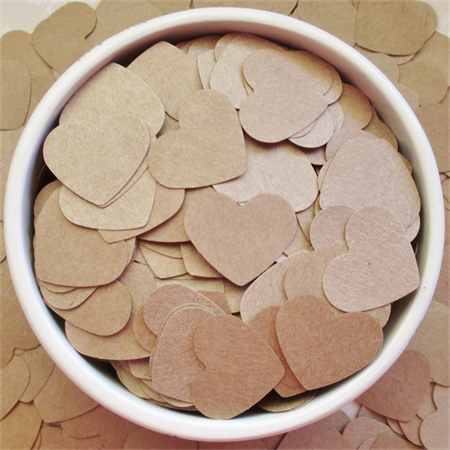 Brown Heart Table Scatters (300 Hearts)