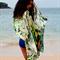 Silk Paua Print Scarf, Artistic Gift, Resort wear, Abalone Art Scarf