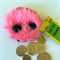 Fake Fur Pink Monster Coin Purse