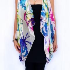 Silk Vest, scarf, sarong, bandana, shawl. Perfect arm coverage.