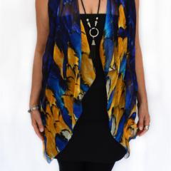 Silk scarf, sarong, bandana, shawl, vest. Perfect arm coverage.