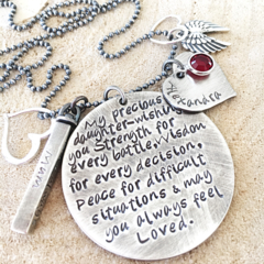 Gift For Daughter, Graduation Gift, Charm Necklace, Hand Stamped Necklace