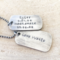 Mothers Day Gift, Women's Dog Tag Necklace, New Mother Gift, Personalised
