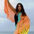 Silk Scarf, Shawl, Vest, Sarong - Wearable Art Resort wear