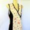 Ladies 8 to 14 Cream Wrap Dress - retro woodlands animal print- fox, flower, owl