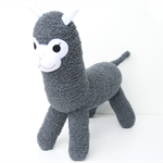 'Amos' the Sock Alpaca - dark grey - *READY TO POST*