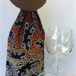 Wine Bottle Gift Bag / Indigenous / Lizard