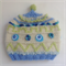 Embellished knit hat for baby 3-6 months.