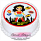 Wonderwoman Personalised Round Edible Icing Cake Topper - PRE-CUT