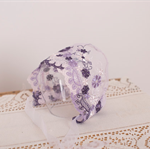 SALE Newborn Lace Bonnet / Newborn Photography Prop / Purple and White