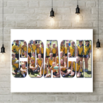 Canvas Personalised Photo Name Print 20x30cm