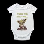 Yoda baby onesie, printed romper suit, funny star wars baby onesie